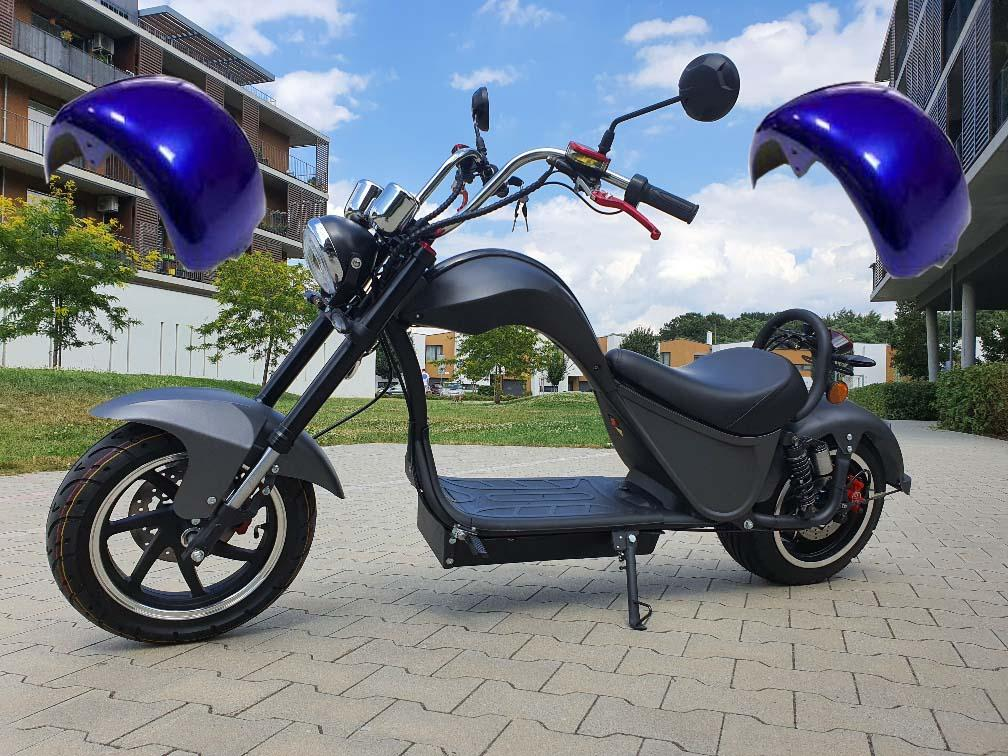 "Elektrický Chopper® COBRA Blue 45km/h Model: ""ES8007"""