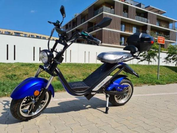 "Elektrický Chopper® Blue 45km/h 4000W Model: ""CS1A / E-THOR 5.0C"""