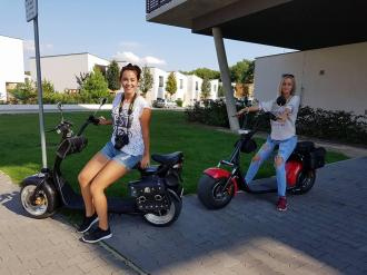 Electric HARLEY do 200kg 25-40km/h 120km Long-term rental 10€/day