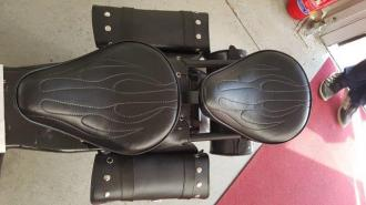 Harley leather seats - two seats